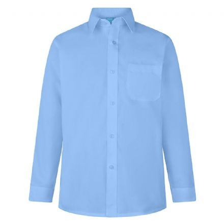 Boys Blue Long Sleeve Shirt - Twin Pack
